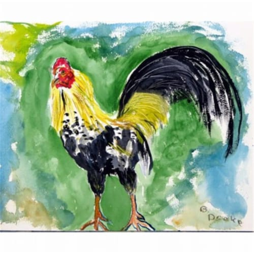 Betsy Drake DM449 Bantam Rooster Door Mat, Small Perspective: front