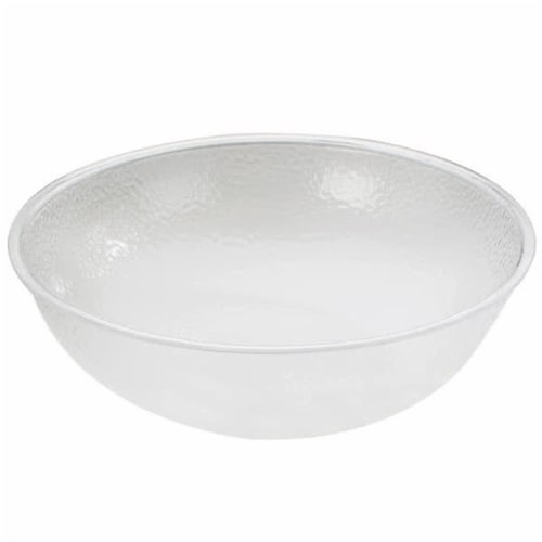 Cal Mil 401-15-34 15 in. Clear Acrylic Pebble Salad Bowl Perspective: front