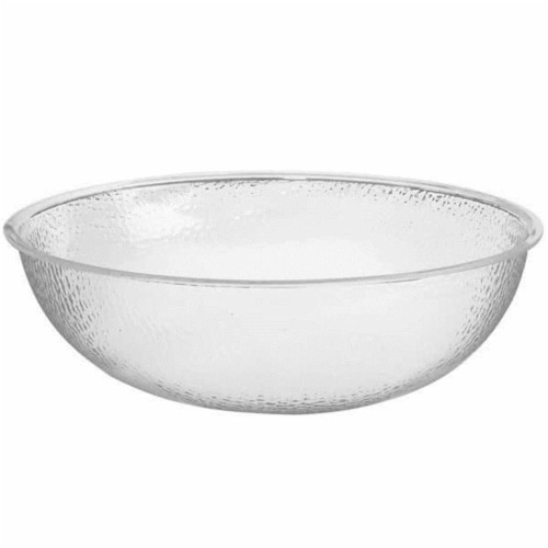Cal Mil 401-24-34 24 in. Clear Acrylic Pebble Salad Bowl Perspective: front