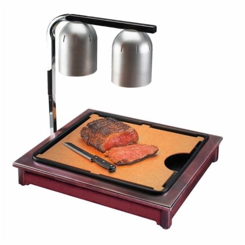 Cal Mil 810-52 Westport Cut-Mate Carving Station Kit with Dark Wood Frame, Drip Tray & Cuttin Perspective: front