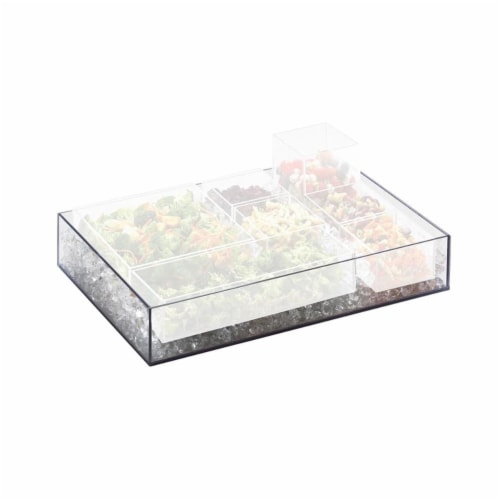 Cal Mil 1399-12 Cater Choice System Clear Ice Housing - 16 x 24 x 4.25 in. Perspective: front