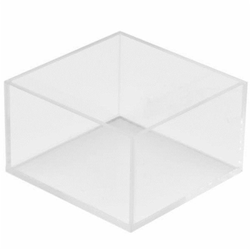 Cal Mil 1395-12 Cater Choice Clear Acrylic Square Accessory Bowl - 5 x 5 x 3 in. Perspective: front
