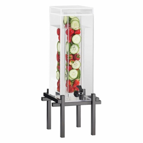 Cal Mil 1132-3INF-13 3 gal Infusion Dispenser, Black - 10.25 x 10.5 x 25.5 in. Perspective: front