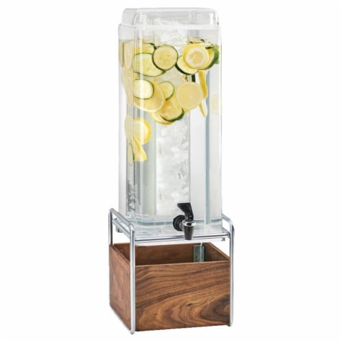 Cal Mil 3703-3INF-49 3 gal Mid-Century Beverage Dispenser with Infusion Chamber - 8.25 x 10 x Perspective: front