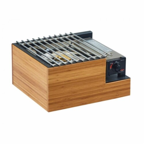 Cal Mil 3435-60 Bamboo Butane Burner Frame - 14.5 x 13 x 7.5 in. Perspective: front