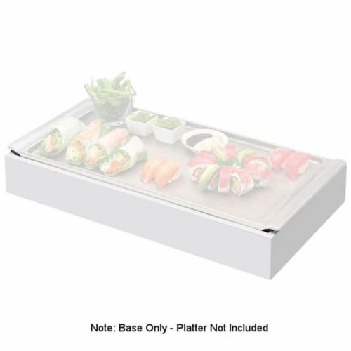 Cal Mil 3699-1123-15 Cold Concept White Wood Frame with Cold Pack & Liner - 23 x 12.5 x 3.5 i Perspective: front