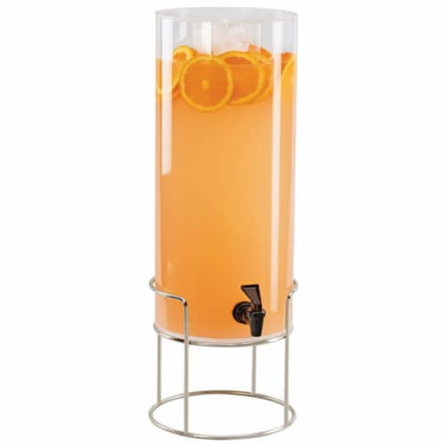 Cal Mil 22005-3INF-49 3 gal Round Beverage Dispenser with Infusion Chamber - Metal Base, Chro Perspective: front
