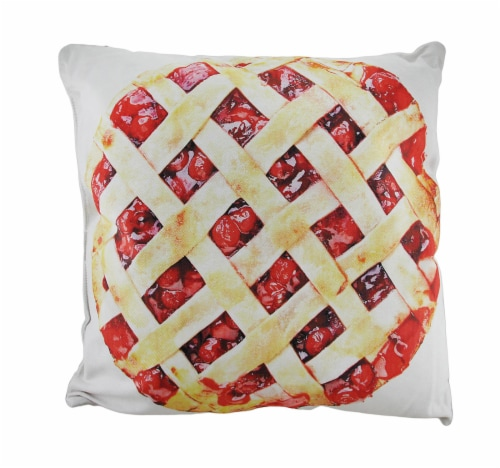 18 in. Cherries and Cherry Pie Decorative Throw Pillow Perspective: front
