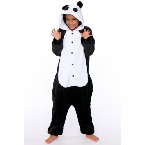 Be Wicked C1813-C 7-9 Unisex Panda Child One Piece, White & Black - 7-9 Years Perspective: front