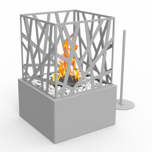 Regal Flame Bruno Ventless Indoor Outdoor Fire Pit Tabletop Portable Fire Bowl Pot in Black Perspective: front