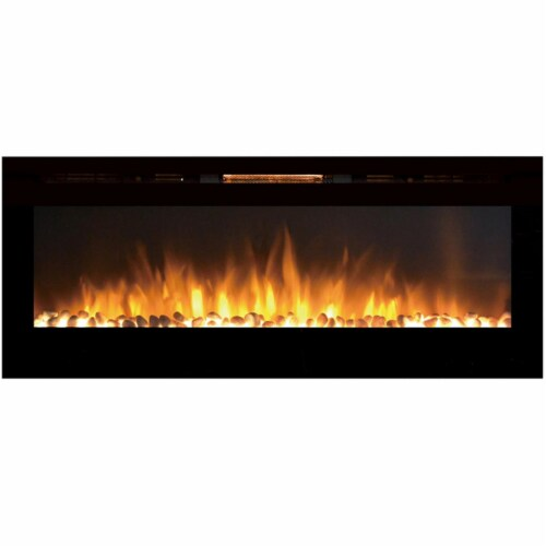 Regal Flame LW2060WS Astoria 60in Built-in Ventless Heater Wall Mounted Electric Fireplace Perspective: front