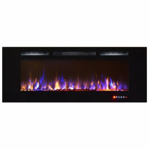 Regal Flame LW2060MC Astoria 60in Built-in Ventless Heater Rcsd Wall Mountd Elctrc Fireplace Perspective: front