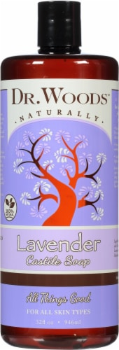 Dr. Woods Naturally Pure Lavendar Castile Soap Perspective: front