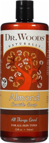 Dr. Woods Naturally Almond Castile Soap Perspective: front