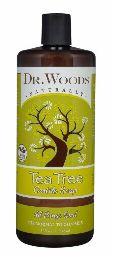 Dr. Woods Naturally Tea Tree Castile Soap Perspective: front