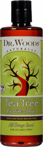 Dr. Woods Shea Vision Pure Castile Soap Tea Tree Perspective: front