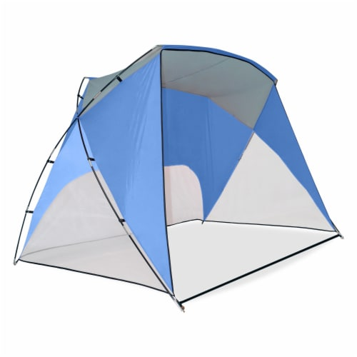 Caravan Canopy Sport Shelter - Blue Perspective: front