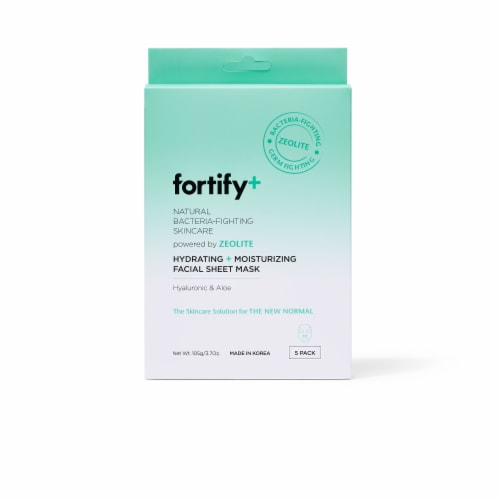 Fortify+ Hydrating and Moisturizing Facial Sheet Mask Perspective: front