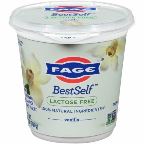 Fage BestSelf Vanilla Yogurt Perspective: front