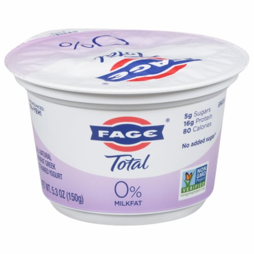 Fage Total 0% Plain Greek Yogurt Perspective: front