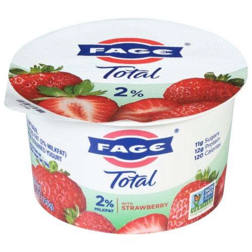 Fage Total 2% Milkfat Strawberry Greek Yogurt Perspective: front