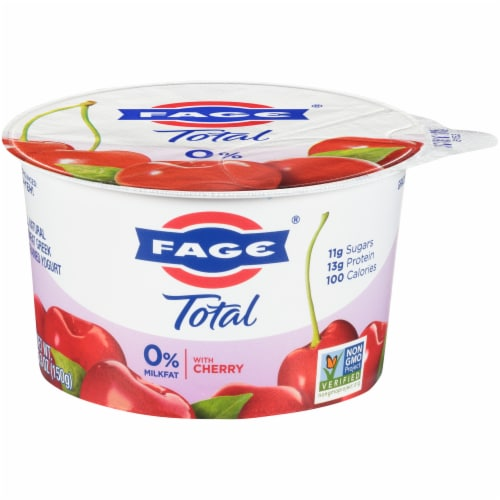 Fage Total 0% Cherry Greek Yogurt Perspective: front