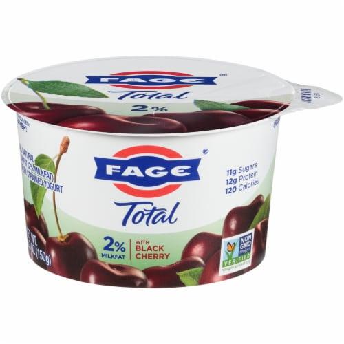 Fage Total 2% Black Cherry Greek Yogurt Perspective: front