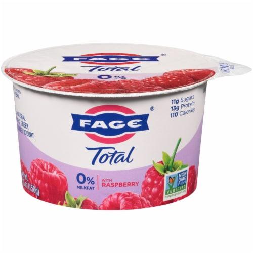 Fage Total 0% Milkfat Raspberry Greek Yogurt Perspective: front