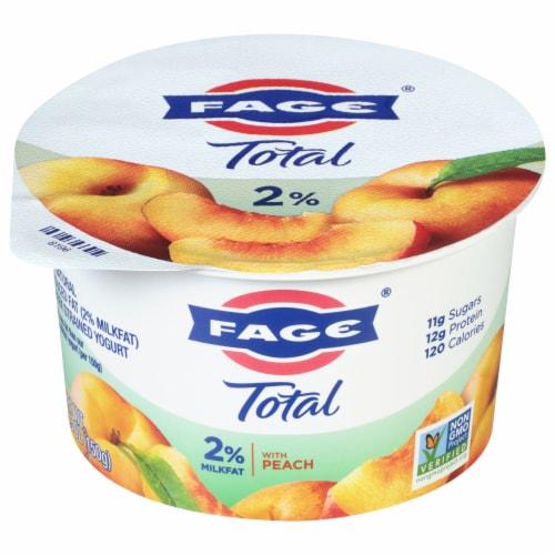 Fage Total 2% Peach Greek Yogurt Perspective: front