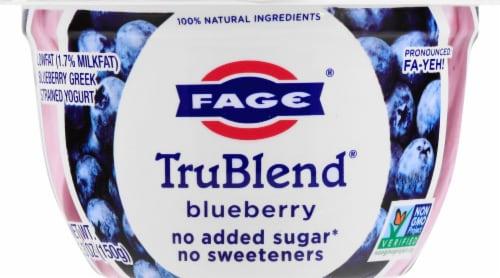 Fage TruBlend Lowfat Blueberry Greek Yogurt Perspective: front