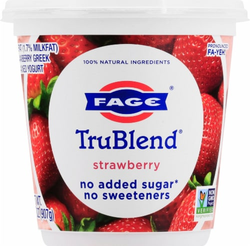 Fage TruBlend Lowfat Strawberry Greek Yogurt Perspective: front