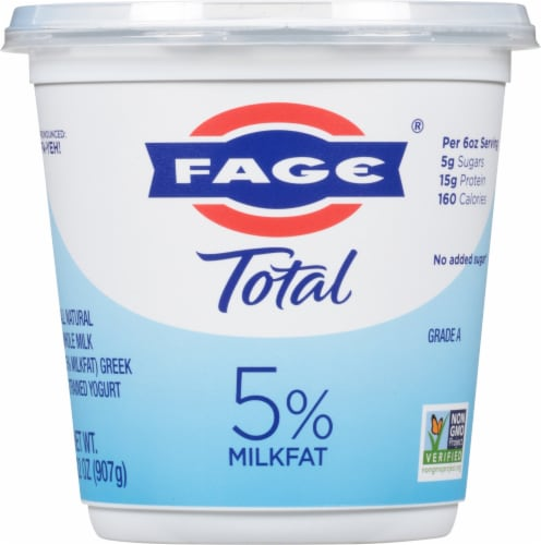 Fage Total 5% Greek Strained Yogurt Perspective: front