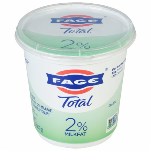 Fage Total 2% Greek Strained Yogurt Perspective: front