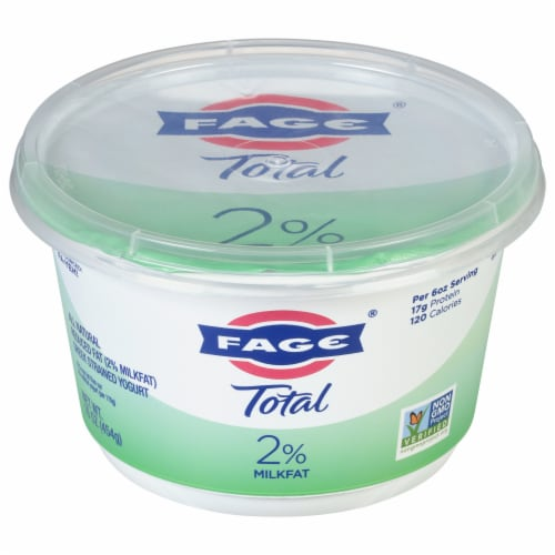 Fage Total 2% Milkfat Strained Greek Yogurt Perspective: front