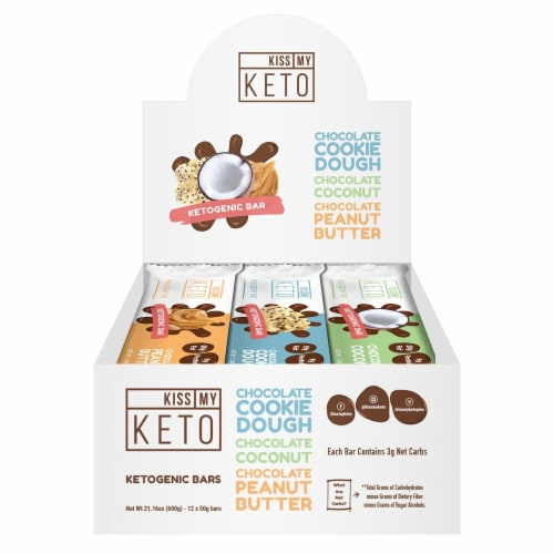 Kiss My Keto Ketogenic Bars Variety Pack Perspective: front