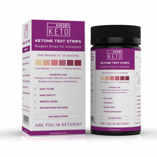 Kiss My Keto Ketone Urinalysis Test Strips Perspective: front