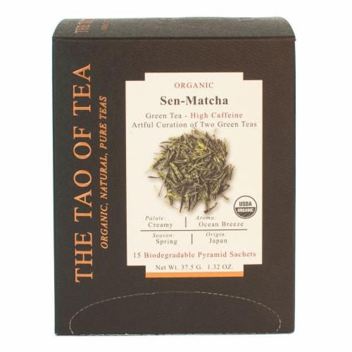 The Tao of Tea Organic Sen-Matcha Green Tea Bags Perspective: front