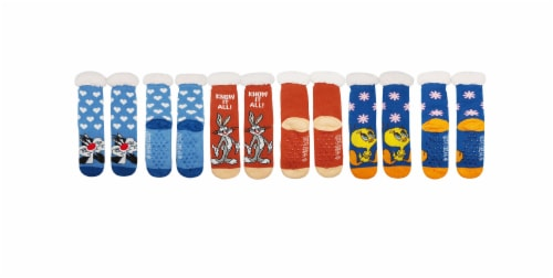MTI Looney Tunes Sherpa Socks - Assorted Perspective: front