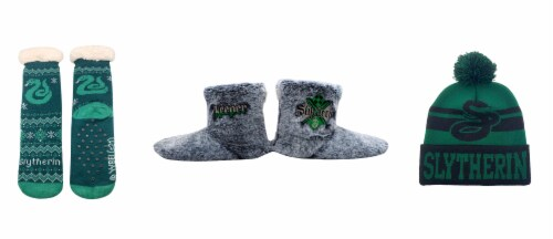 MTI Harry Potter Slytherin Sock/Boot/Beanie Set Perspective: front