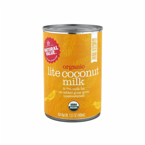 Natural Value Organic Lite Coconut Milk / 13.5-oz. Cans / 6-pack Perspective: front