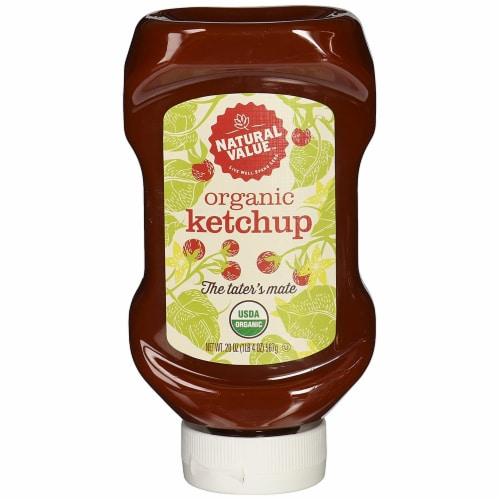 Natural Value 20 oz. Organic Ketchup / 6-pack Perspective: front