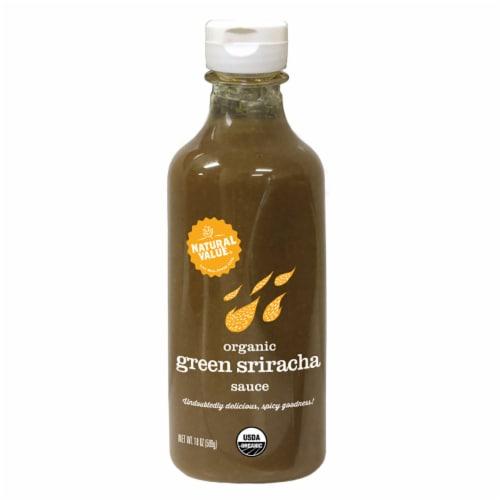 Natural Value Organic GREEN Sriracha Sauce / 18-oz. bottles / 6-pack Perspective: front