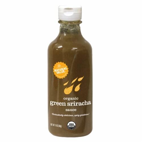 Natural Value Organic GREEN Sriracha Sauce / 18-oz. bottles / 3-pack Perspective: front