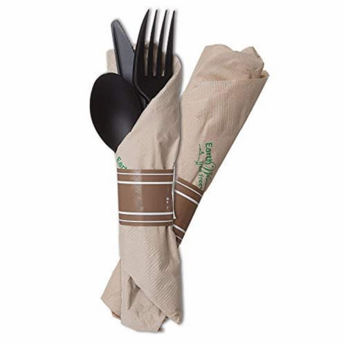Eco-Products Vine Compostable Wrapped Cutlery / 100-ct. case Perspective: front
