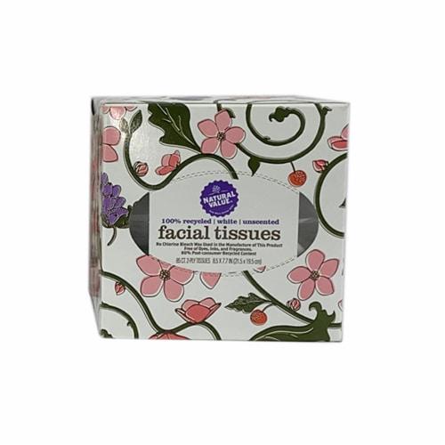 Natural Value Boutique Facial Tissue / 85-ct. boxes / 12-ct. mini case Perspective: front