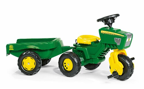 KETTLER John Deere Pedal Vehicle with Trailer - Green/Yellow Perspective: front