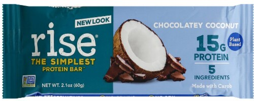 Rise Chocolatey Coconut Protein Bar Perspective: front