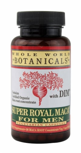 Whole World Botanicals  Super Royal Maca® for Men with DIM Perspective: front