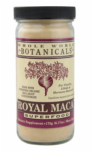 Whole World Botanicals  Royal Maca Superfood Perspective: front