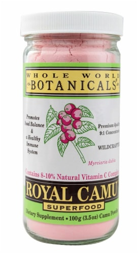 Whole World Botanicals  Royal Camu Powder Wildcrafted Perspective: front